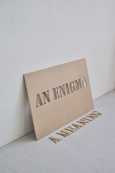 [#5] AN ENIGMA A MEANING (2012), by Trevor H. Smith