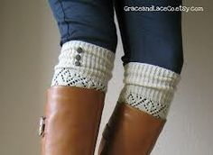Boot socks - just looking at this idea makes me feel warm and cozy.