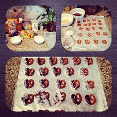::dark chocolate pretzel recipe::