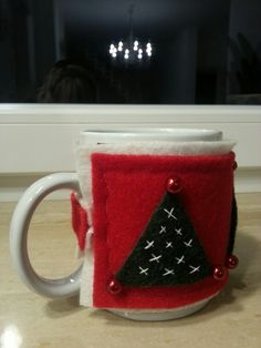 Coprimug natalizio#feltro#felt#xmas craft# creative sewing#cucito creativo