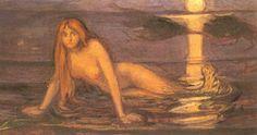 Edvard Munch Lady from the Sea 1896 Oil on Canvas Philadelphia Museum of Art Edvard Munch, Art Et Illustration, Illustrations, List Of Paintings, Art Magique, Oslo, Philadelphia Museum Of Art, Norman Rockwell, Art Moderne
