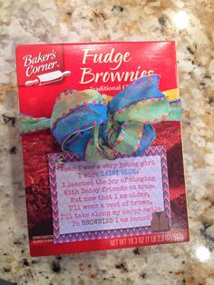 Fashionable Moms: Brownies Printable...cute idea for first meeting gift?