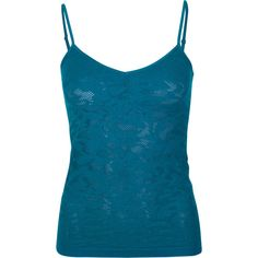 Full Tilt Essential Lace Womens Seamless Cami ($7.97) ❤ liked on Polyvore featuring intimates, camis, tops, tank tops, camisoles, tanks, blue, seamless camisole, stretch camisole and lace cami