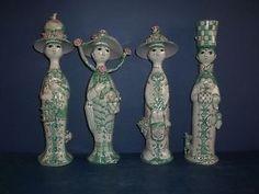 RARE SET OF FOUR SEASON FIGURES IN RARE GREEN COLOUR DESIGNED BY BJORN WIINBLAD   | eBay