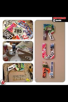 Great display for race bibs