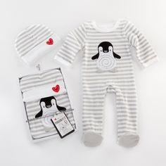 Baby Aspen Penguin PJs 2-piece Layette Set - NuMercy.com