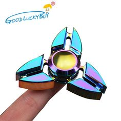 New EDC Tri-Spinner Fidget Toys Hand Pattern Metal Spinners ADHD Adult Decompression Toy Action