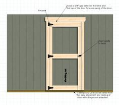 One Of The Simplest Ways To Build Single Shed Doors For Your Storage Shed,  Garden Shed, Playhouse And Any Other Outdoor Structure Needing An Entry Door .