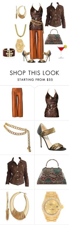 """""""Untitled #6403"""" by billyblaze ❤ liked on Polyvore featuring Romeo Gigli, Roberto Cavalli, Chanel, Jimmy Choo, Todd Oldham, Judith Leiber, Robert Lee Morris and Rolex"""