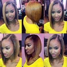 STYLIST FEATURE  Love this honey blonde sew in install on @mzindya_nicole done by #BrooklynStylist @Nikita___gThis #bob✂️is FIERCE#VoiceOfHair ========================= Go to VoiceOfHair.com ========================= Find hairstyles and hair tips! =========================
