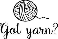 "Got Yarn? - Vinyl Decal Sticker Crochet Knitting Sewing Weaving 5.5"" x 4"" WHITE Minglewood Trading http://www.amazon.com/dp/B00I14A4WQ/ref=cm_sw_r_pi_dp_XRQSwb0DYEPNK"
