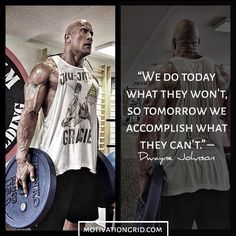 By sharing his advice Dwayne Johnson has become an inspiration to millions of people. Here are the best 25 Dwayne Johnson motivational picture quotes. The Rock Motivation, Fitness Motivation, Fitness Routines, Fitness Exercises, Workout Routines, Motivation Success, Rock Quotes, Life Quotes, Motivational Picture Quotes