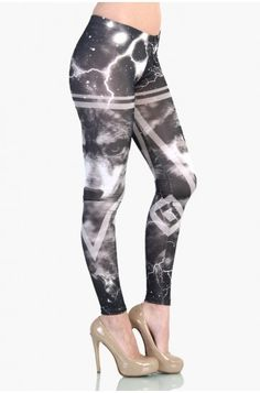 OMG Wolf Leggings - Black