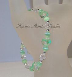 Green Ribbon Lymphoma Cancer Awareness Beaded by ArtisticTouches, $16.00