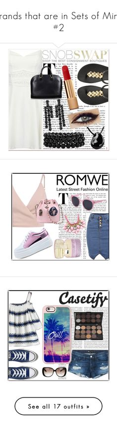 """Brands that are in Sets of Mine #2"" by emmy-124fashions ❤ liked on Polyvore featuring Louis Vuitton, IPANEMA, Simone Rocha, Bling Jewelry, Chanel, romwe, Oris, 3x1, Casetify and Converse"