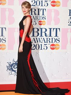 Taylor Swift at the 2015 Brit Awards