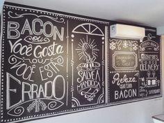 Painel em giz para o Z Burgers - UBERLÂNDIA MG