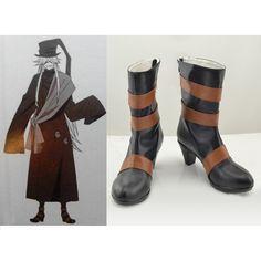 46.00$  Buy now - Anime Black Butler Kuroshitsuji Under Taker Cosplay Boots Halloween Party Shoes Custom Made  #magazineonlinewebsite