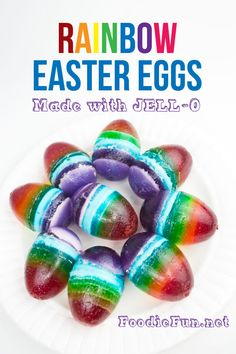 I mean it's cute but seems like A LOT of work for some Jello. | Rainbow JELL-O Easter Eggs