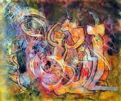 """MATTA - """"Omnipuissance du rouge"""" 1990 200 x 240 cm. Modern Art, Contemporary Art, Fantastic Art, Artist At Work, Creative Inspiration, Printmaking, Abstract Art, Illustration Art, Colourful Art"""