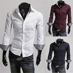 New Designer Print Slim Fit Fashion Men Dress Shirt  . Shop Now At http://sneakoutfitters.com/collections/new-in/products/new-designer-print-slim-fit-fashion-men-dress-shirt