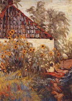 De Ploeg-schilders / Zonnebloemen te Blauwbörgje - Jan Altink