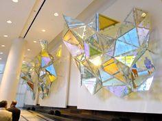 iridescent glass installation - http://sphotos-c.ak.fbcdn.net/hphotos-ak-ash3/p480x480/544431_10151553890795460_1778134240_n.jpg