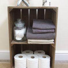Apple Crate with Short Internal Shelf