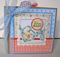 Baby Boy Scrapbook Mini Album Premade Personalized by ArtsyAlbums