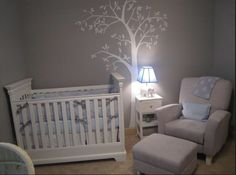 LOVE this for a boy nursery. Simple and adorable