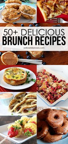 These all look amazing! Can't wait to try them out for this Mother's Day brunch! - 50+ Delicious Brunch Recipes - Yellow Bliss Road