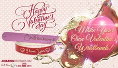 Did you know that about a billion Valentine's Day cards are sent worldwide every year? This year, do something different and order unique personalized Valentine's bracelets instead. Custom silicone bracelet can be customized with a special Valentine's Day message to share with your Valentine.