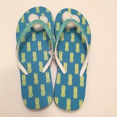ab189f6fcea2 NWT Aeropostale Pineapple Flip Flops! NWT Aeropostale Pineapple print flip  flops! Size  Large · Size 9 ShoesWomen s ShoesBeach ...