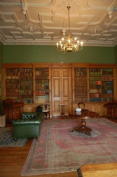 Muckross House library.. ready to go back