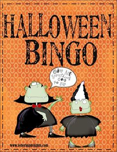 Halloween Bingo Game-Free for facebook friends www.facebook.com/itswrittenonthewall