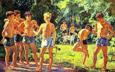 At summer, 1939, Petr Konchalovsky. #russia #art #drawing #konchalovsky