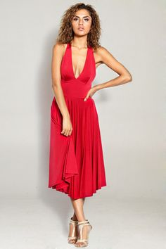 Marilyn Dress in Red gorgeous Day Dresses, Casual Dresses, Fancy Dress Ball, Short Long Dresses, Little Red Dress, Clothes For Women, Nice Clothes, Women's Clothes, Beautiful Dresses