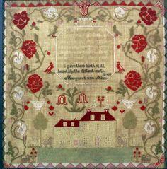Margaret Ann Shinn, 1840, New Jersey, silk and wool on linen