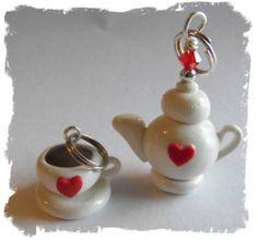 Polymer Clay Teapot Teacup Charm SET | eBay