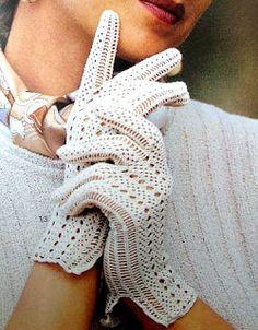 Letras e Artes da Lalá: luvas de crochê
