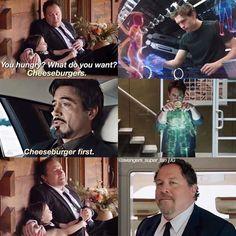 Tony Stark and his kids ❤️ Funny Marvel Memes, Marvel Jokes, Dc Memes, Marvel Actors, Disney Marvel, Marvel Dc Comics, Marvel Heroes, Avengers Memes, Marvel Avengers