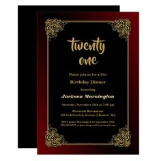 Shop Black and Gold Surprise Birthday Party Invitation created by Merry_Wrinkle. 60th Birthday Party Invitations, Housewarming Party Invitations, Dinner Party Invitations, Gold Invitations, Graduation Invitations, Invitation Ideas, Invite, Surprise 30th Birthday, Gold Birthday Party