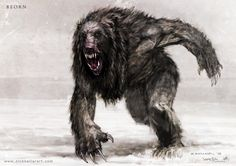 Beorn - The Hobbit, part II - Concept design as seen in The Hobbit: The Desolation of Smaug, Chronicles: Art & Design and Smaug: Unleashing the Dragon - The Art of Nick Keller Beorn Hobbit, Hobbit Desolation Of Smaug, The Hobbit, Concept Art World, Creature Concept Art, Creature Design, Weird Creatures, Fantasy Creatures, Mythical Creatures