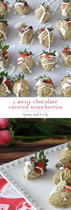 S'mores Chocolate Covered Strawberries