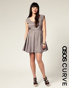 ASOS CURVE Ruched Sleeve Waisted Dress $51.72NOW $36.20