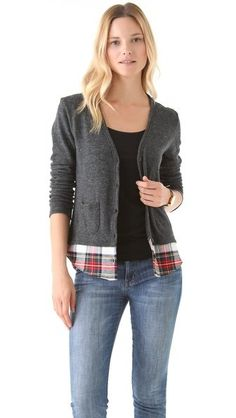 An Offbeat Cardigan - cute to just add a flannel to make it longer