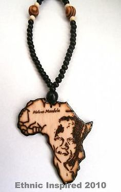 Black africa necklace mens wood beaded necklace african jewelry ethnic inspired handmade 18 42 black chain africa map wooden pendant necklace mozeypictures Choice Image