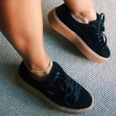 c00604e1431e Black Puma Creepers Trendy fashion sneakers designed by Rihanna Puma Shoes  Sneakers Black Puma Creepers