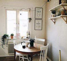 Are you searching for decorating tricks for your small dining room? You've arrived at the ideal place! A small dining room may appear comfy and give a location to enjoy a nice meal together with friends or family. It can… Continue Reading → Cozy Apartment Decor, Apartment Living, Small Cozy Apartment, Hipster Apartment, Decorate Apartment, Apartment Ideas, Micro Apartment, Apartment Kitchen, White Dining Room