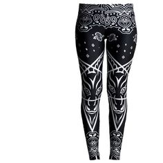 Bandana Leggings [MULTI] ❤ liked on Polyvore featuring pants, leggings, patterned pants, patterned trousers, print pants, patterned leggings and legging pants